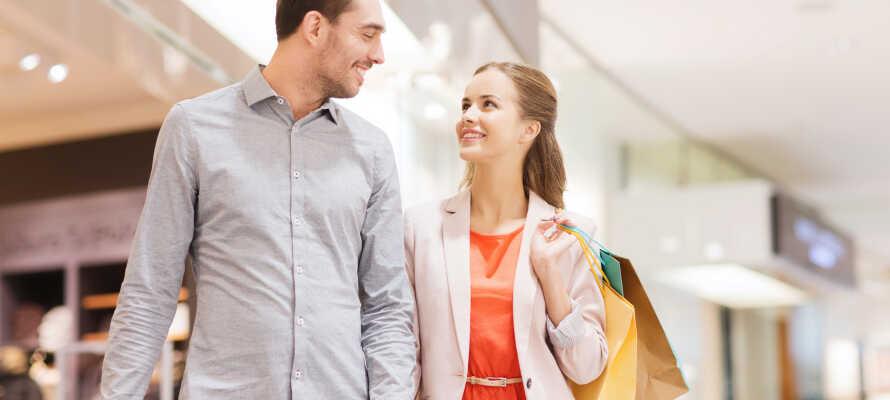 I finder adskillige gode shoppingmuligheder i nærheden, bl.a. et stort shoppingcenter og naturligvis grænsehandlen.