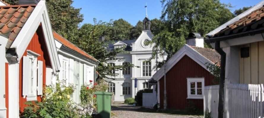 Das Hotel Svanen liegt wunderschön auf Ängö in Kalmar, nur einen kurzen Spaziergang vom schönen Stadtzentrum entfernt.