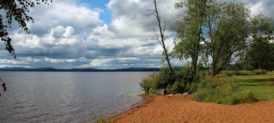 Beliggenheden tæt på Orsasøen giver jer gode muligheder for, at bade og nyde livet på den fine strand.