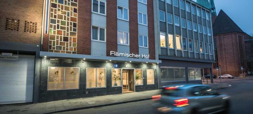 Hotel Flämischer Hof ligger i Kiels smukke gamle bydel, ikke langt fra slottet.