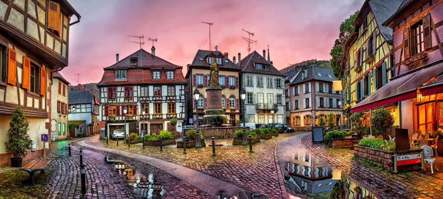 Oplev nogle af regionens smukkeste landsbyer; Ribeauville, Riquewihr og Eguisheim.