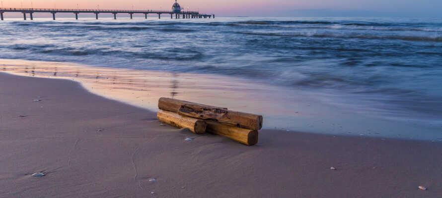 Från hotellet har ni närhet till havet och den fina stranden i Zinnowitz.