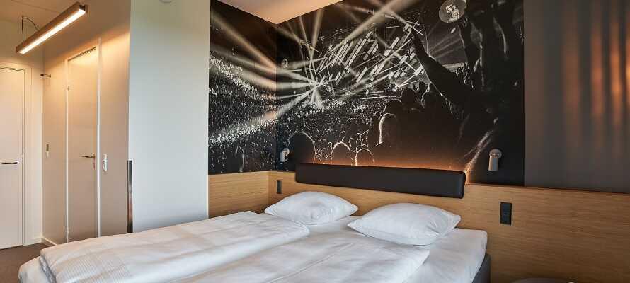 Zleep Hotel Copenhagen Arena har ljusa och modernt inredda rum