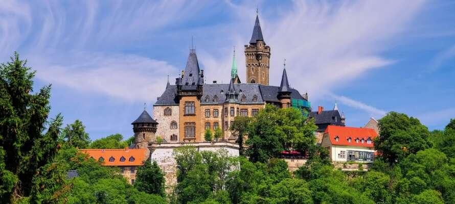 Det smukke slot i Wernigerode er helt bestemt et besøg værd.