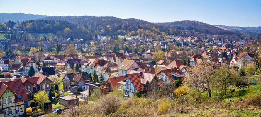 Hotellet ligger ikke langt fra sentrum av den historiske byen Wernigerode.