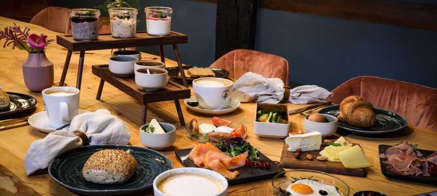 Varje morgon har ni möjlighet att välja ut er egen frukost från den utsökta á la carte menyn.