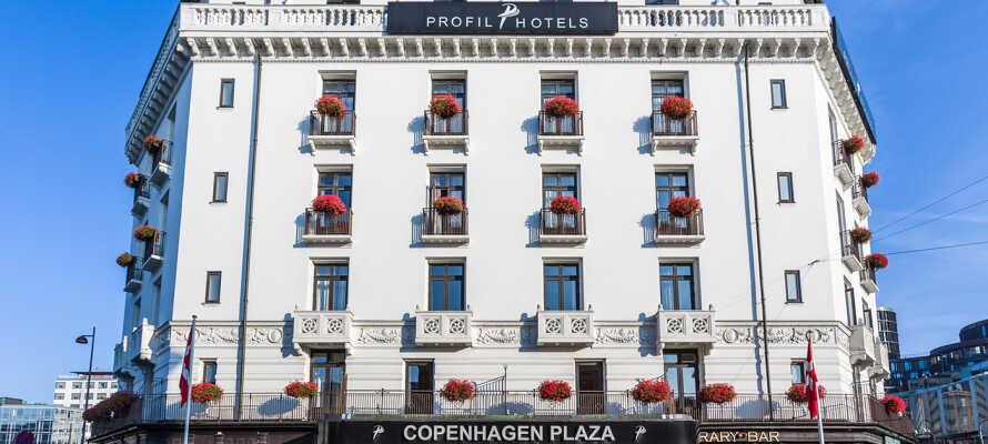 Copenhagen Plaza er et historisk hotel, skønt beliggende i hjertet af København.