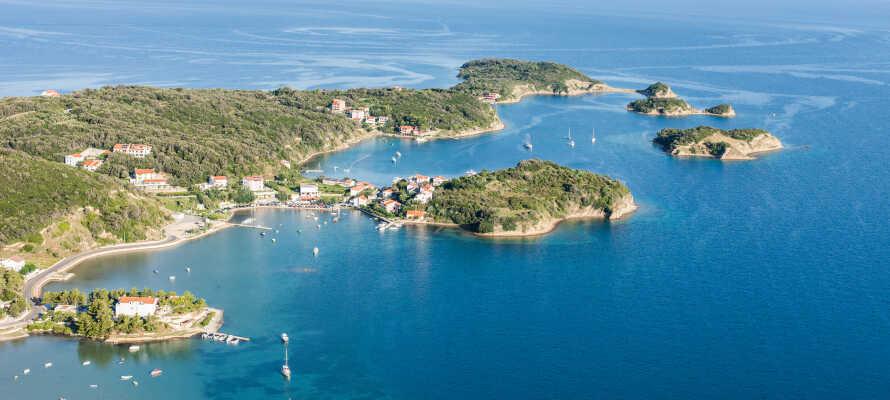 Øya Rab har et flere fantastiske kroger hvor dere bare kan slappe av!
