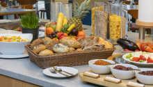 Starten Sie gutgelaunt in den Tag mit einem reichhaltigen Frühstücksbuffet.