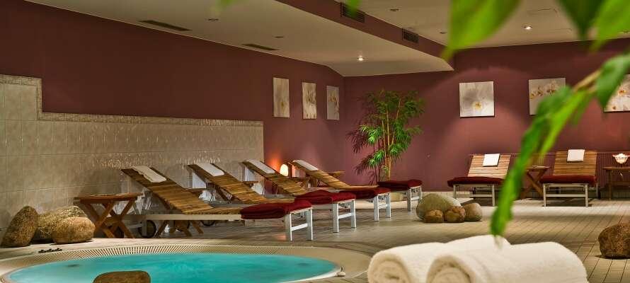Hotellet har en trevlig liten wellnessavdelning där ni kan slappna av. bastun kan användas mot avgift.