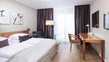 Ett exempel på ett av hotellets bekvämt inredda rum.