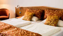 Här inkvarteras ni i moderna och bekvämt inredda rum.