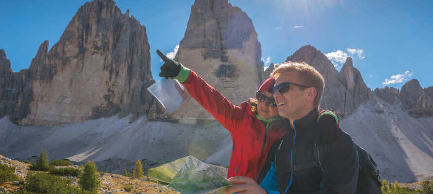 I har alletiders udgangspunkt for ture i Ambiez-dalen og de UNESCO-listede oplevelser i Dolomitterne.