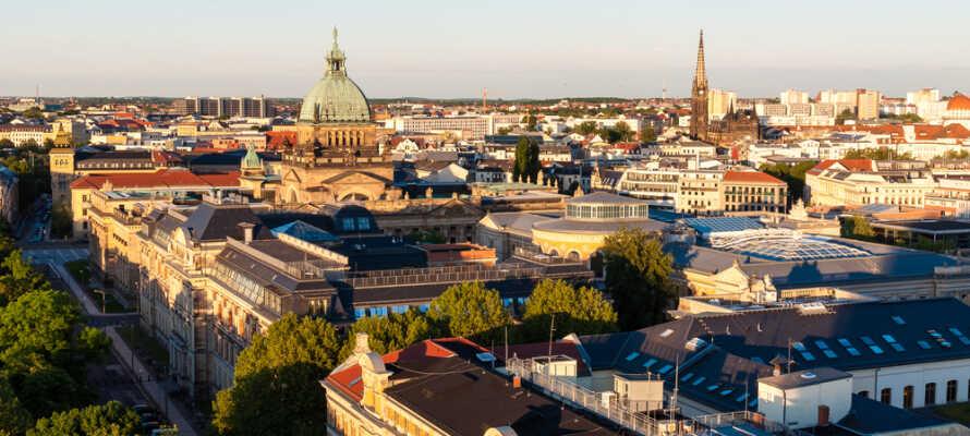 Hotellet ligger i lugna omgivningar lite utanför centrala Leipzig och erbjuder en trevlig bas för er semester