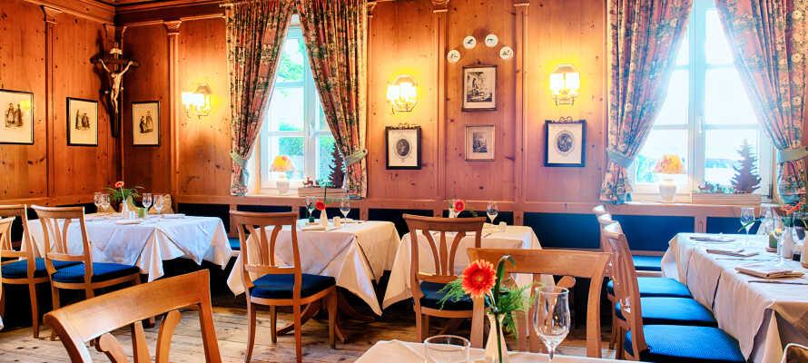 Traditionelt bayersk køkken og hyggelig resturant.