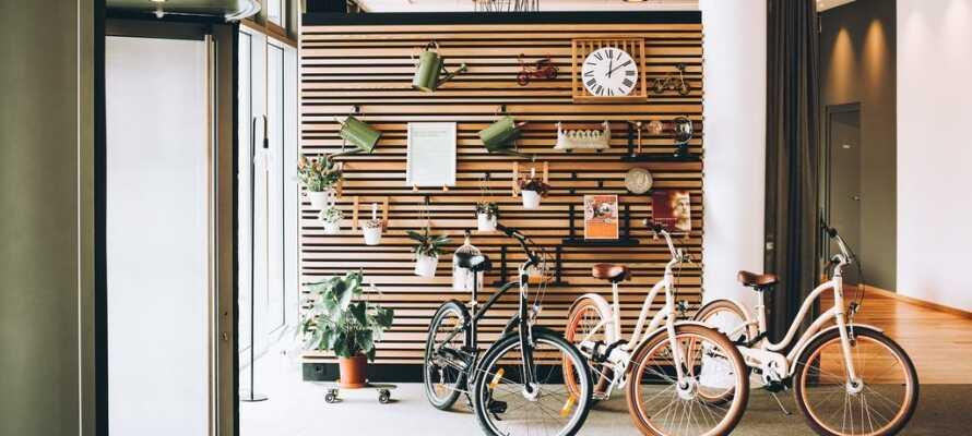 Dere kan leie sykler og samtidig få dem oppbevart.