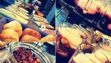Morgens können Sie ein köstliches Frühstücksbuffet genießen, abends Grillgerichte und berühmte schwedische Spezialitäten.