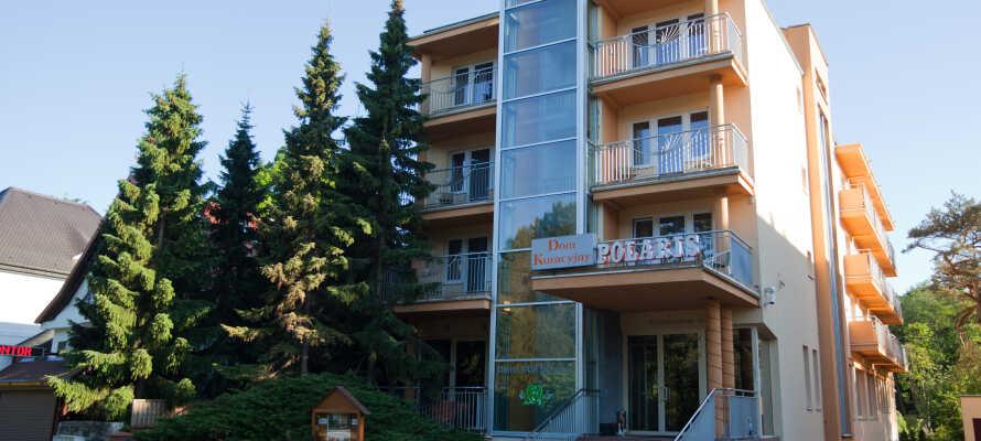 Hotellet ligger i lugna omgivningar mitt i den polska kurorten Swinoujscie och endast en kort promenad från Östersjöns stränder