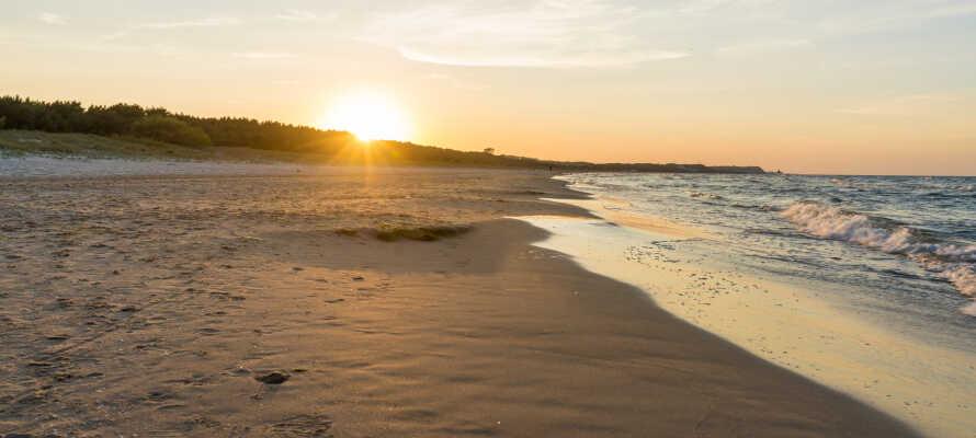 I bor bare en kort gåtur fra den gyldne sandstrand, Swinoujscie Beach.