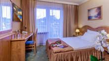 Et eksempel på et af hotellets enkeltværelser.