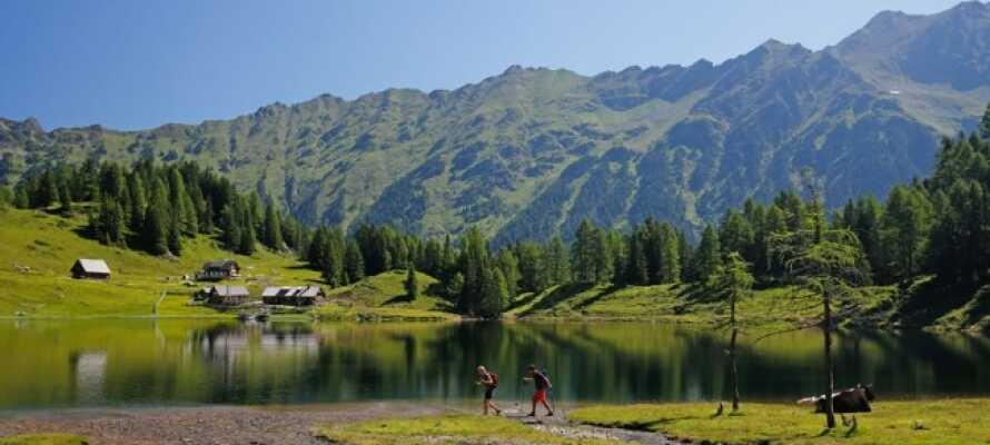 Fra hotellet er der bare 10 minutters kørsel til den smukke natursø, Pichlsee, hvor der kan bades om sommeren.
