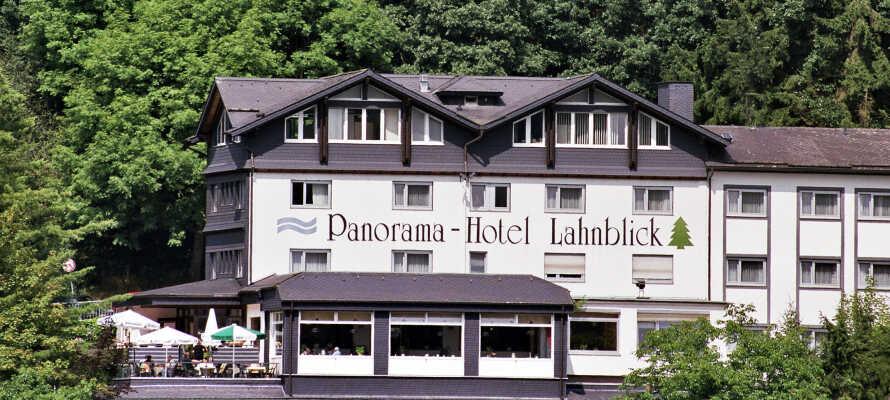 Det traditionelle Hotel Lahnblick byder til en aktiv ferie tæt på naturen.