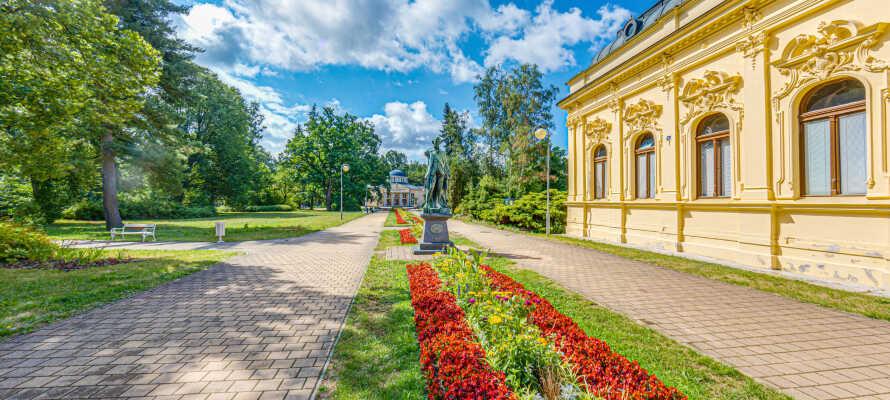 Dere bor bare 20 km fra Franzensbad, som er en av Tsjekkias mest berømte kurbyer.