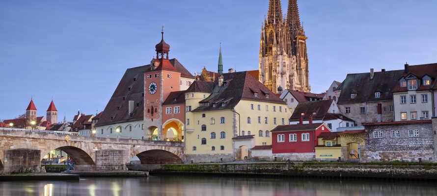 Der er gode muligheder for at besøge både Regensburg, Nürnberg og Prag under opholdet.