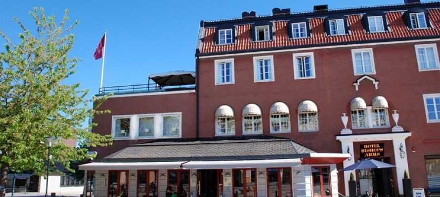 Det här mysiga lilla hotellet ligger centralt vid torget i Strängnäs