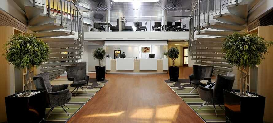 Hotellets reception är öppen och bemannad av trevlig personal dygnet runt.