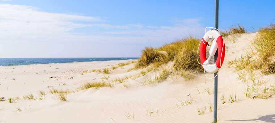 Det är inte långt till närmaste havsbad där ni kan ta ett kallt dopp och promenera på stranden