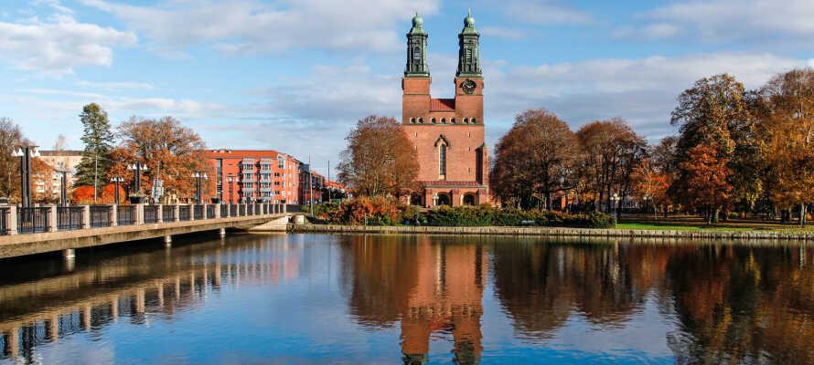 Das Hotel hat eine zentrale Lage in einer ruhigen Gegend am Fluss Eskilstuna.