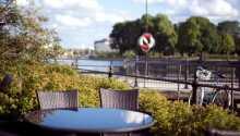 Das Hotel hat eine herrliche Aussicht auf den Fluss der Stadt, Eskilstuna.
