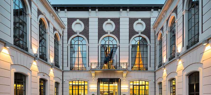 Den enastående vackra hotellbyggnaden har anor från 1500-talet  men renoverades så sent som 2020