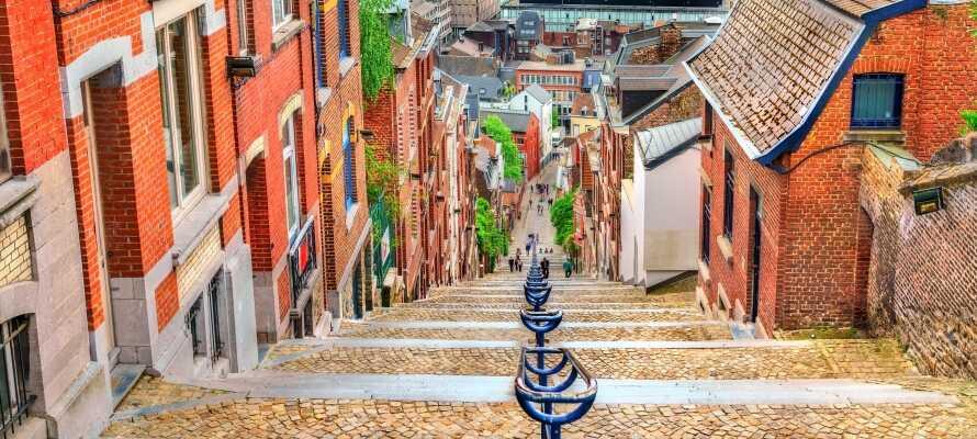 Prøv en av de mange spennende restaurantene i det pulserende Liège.
