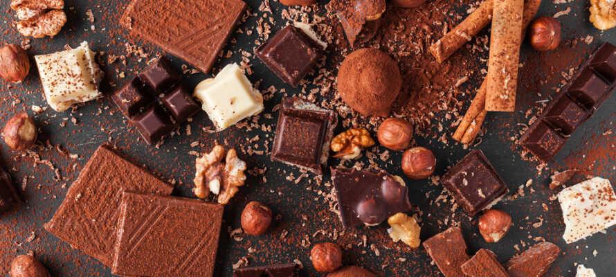 Prøv belgisk sjokolade! Det er mange varianter tilgjengelig.