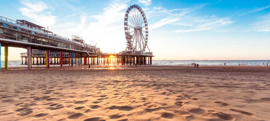 Das Hotel liegt nicht weit vom beliebten niederländischen Strand Scheveningen entfernt. Kombinieren Sie Strädtetrip und Strandurlaub!