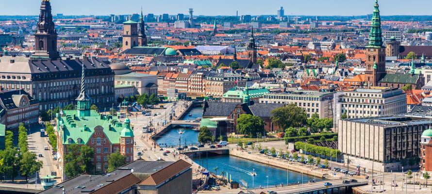 Cabinn Copenhagen ligger centralt beläget i Köpenhamn