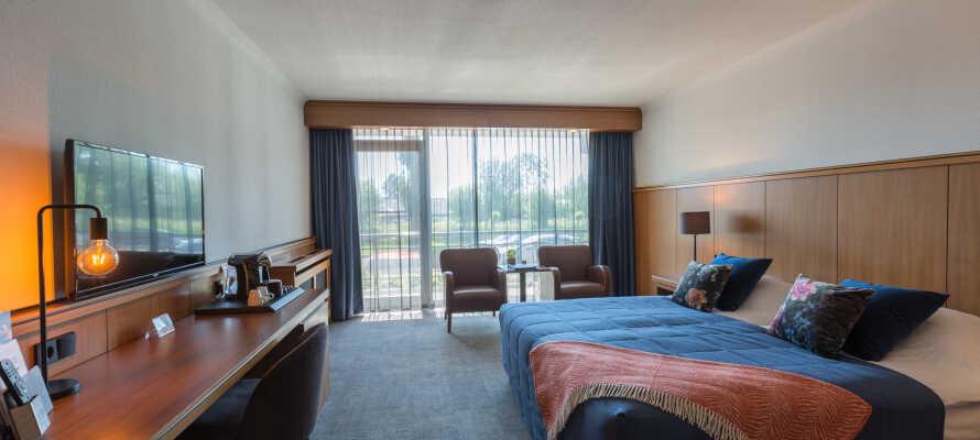 Bo i 4-stjernede rammer på komfortabelt og elegant indrettede værelser.