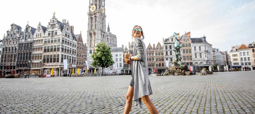 Antwerpen ligger ikke langt fra hotellet og den smukke by er altid et besøg værd.