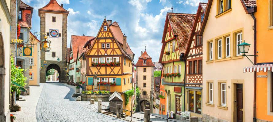 Gör en dagsutflykt till Rothenburg som är en resa tillbaka i tiden till medeltiden