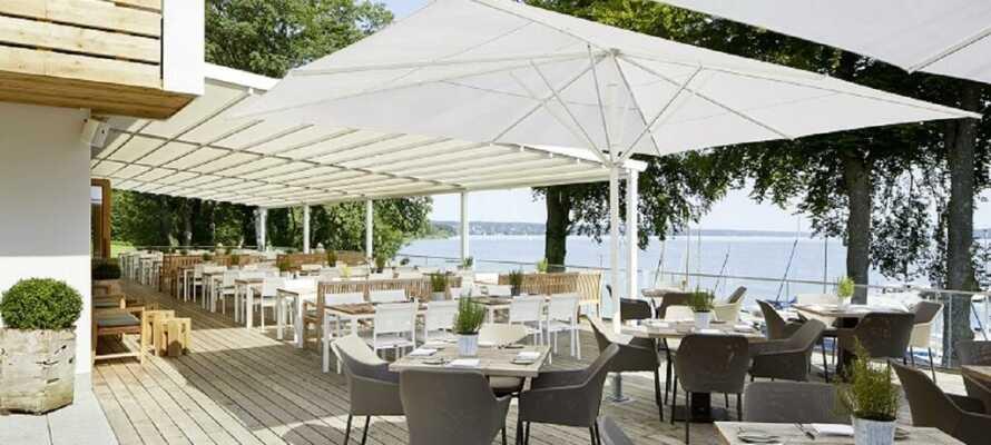 Marina Hotel ligger fint beläget vid sjön Starnberg i Bayern.