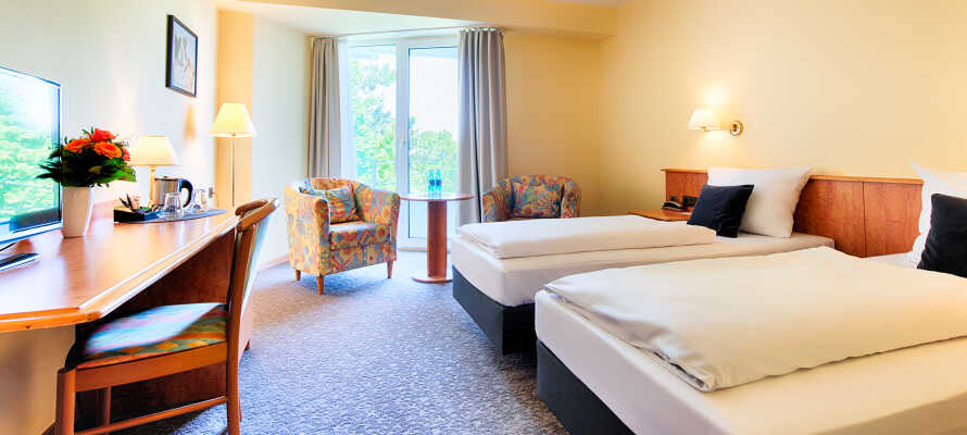 De romslige og komfortable rommene, sørger for en god nattesøvn.