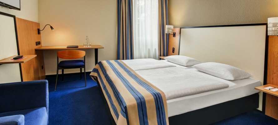 I bor på moderne og bekvemt indrettede værelser med king-size seng eller dobbeltseng.