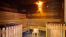 I hotellets egen sauna kan I styrke immunsystemet.