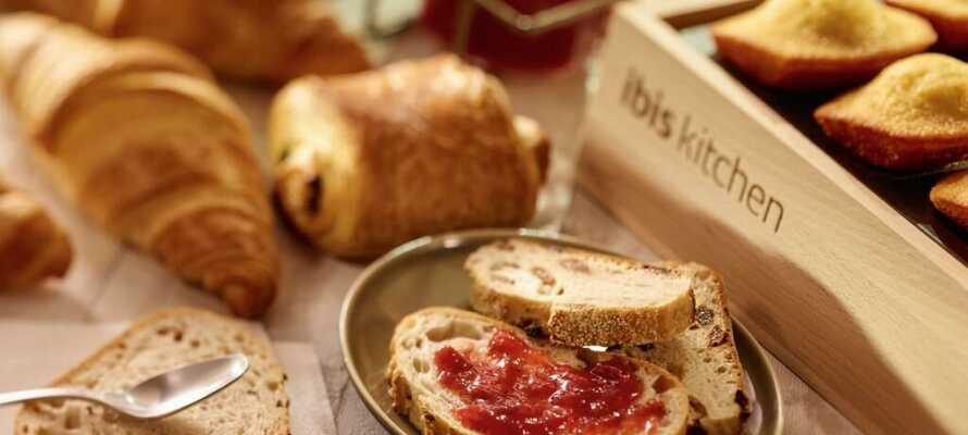 Varje morgon serverar hotellet en härlig frukost så att ni kan börja dagen på bästa sätt