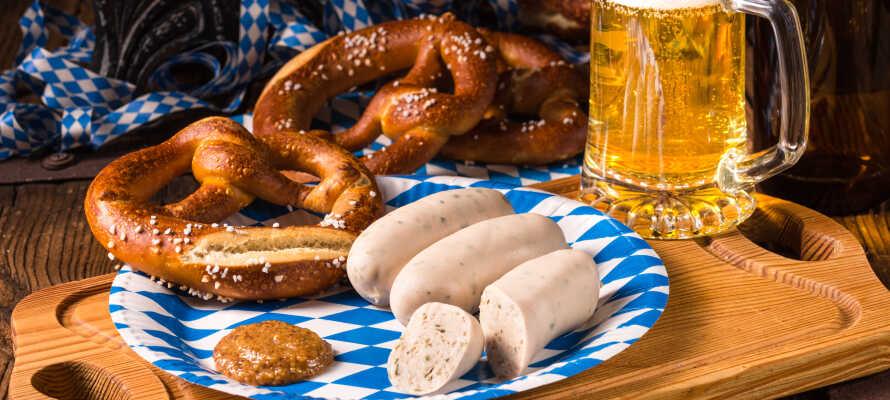 Gå på oppdagelsesferd i det bayerske kjøkken, som rommer en lang rekke spesialiteter.