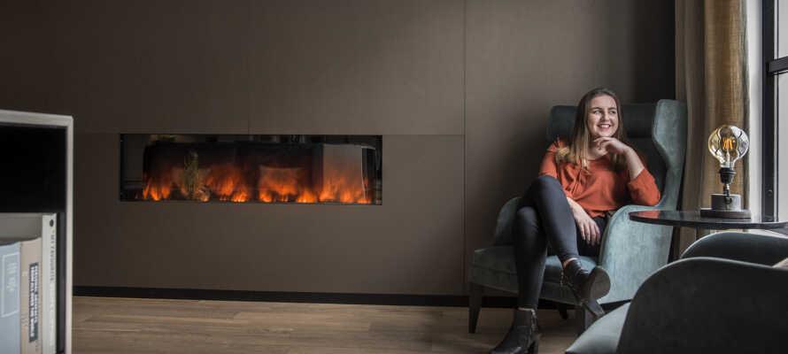 Hotellet har en varm og hjemlig atmosfære, som indbyder til afslappende stunder.