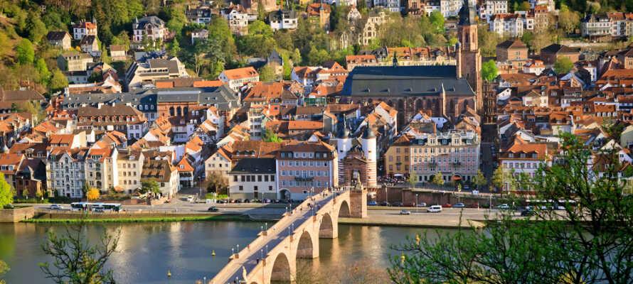 Entdecken Sie die romantische Stadt Heidelberg, nur 35km entfernt.