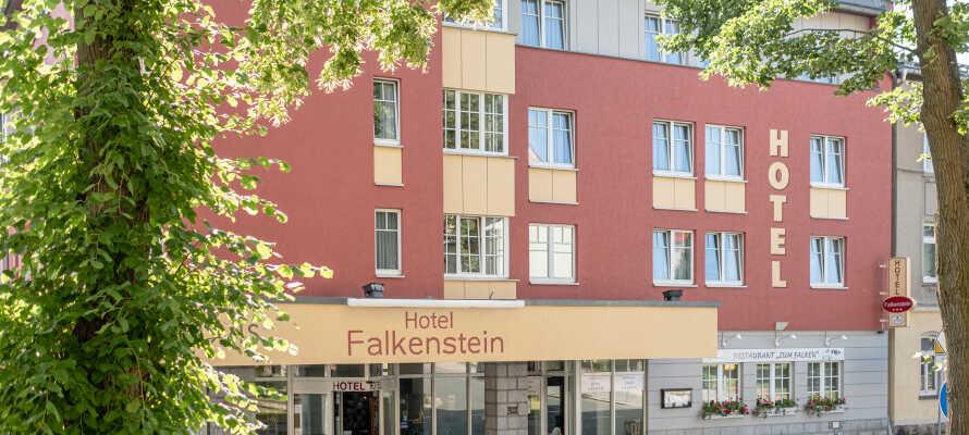 Hotel Falkenstein har en sentral, men samtidig rolig beliggenhet i den lille hyggelige byen Falkenstein.